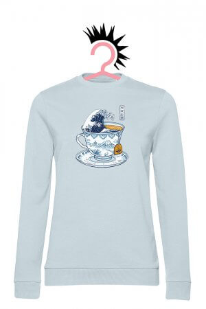 Tea Wave (Woman French Terry Pure Sky)