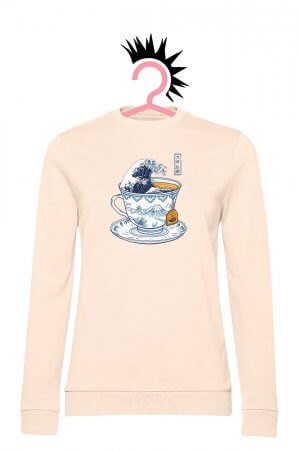 Tea Wave (Woman French Terry Pale Pink)